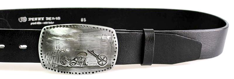 6f2e1dc38502 Pánsky kožený opasok JEANS s plnú sponou 24-60 čierny