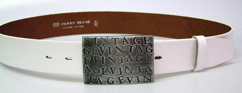 303e45e81 Pánsky kožený opasok s plnú sponou 60-00 biely - PENNYBELTS
