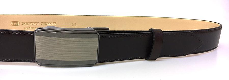 fc756fc3d Pánsky kožený spoločenský opasok s plnú sponou 35-020-A11 tmavo hnedý