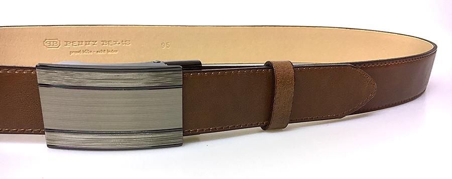 Pánsky kožený spoločenský opasok s plnú sponou 35-020-A7 hnedý ... b4da7597b9